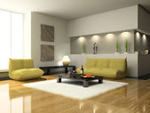 View on the modern living-room — Stock Photo
