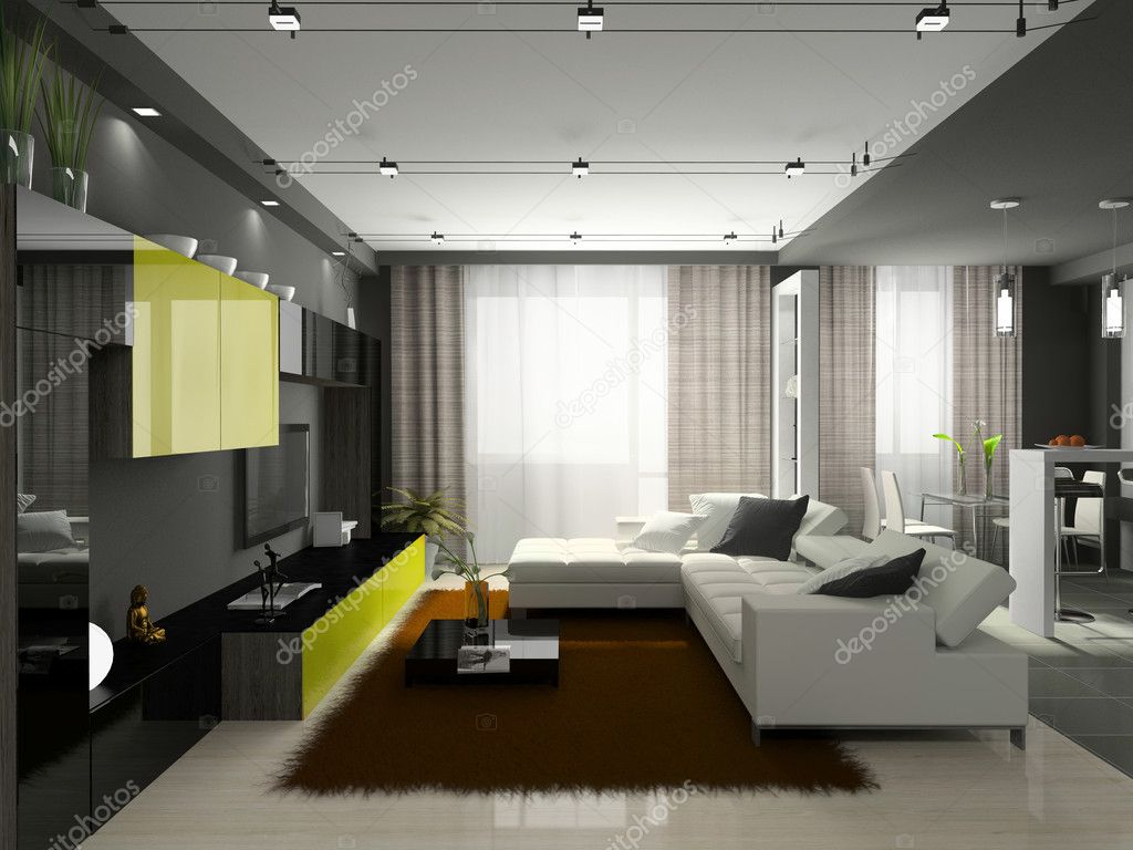Interior of the stylish apartment — Stock Photo #2648677