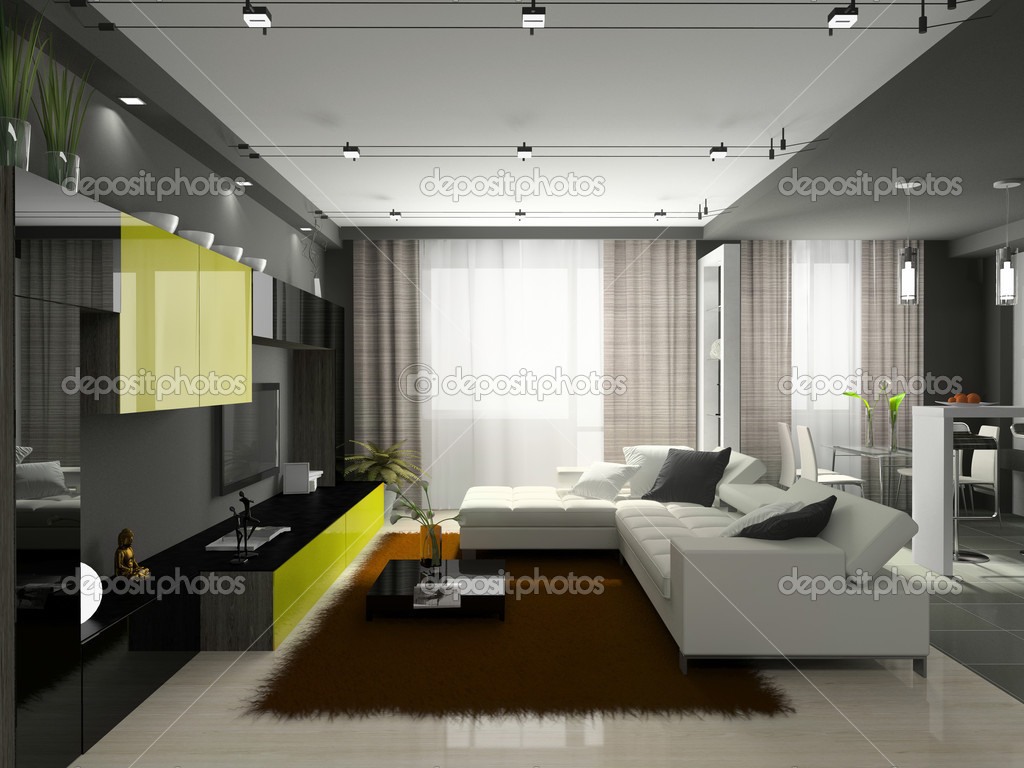 Interior of the stylish apartment — Foto Stock #2648677