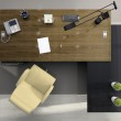 View from above of the modern office — Stock Photo