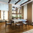 Stock Photo: Interior of stylish apartment