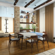 Interior of the stylish apartment — Foto de Stock
