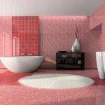 モダンなバスルームのインテリア 3 d — ストック写真