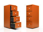 Orange card files — Stock Photo