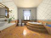 Interior of the modern bathroom — Stock Photo