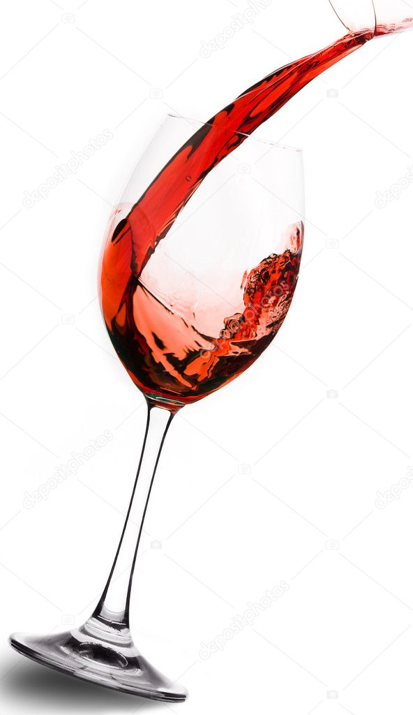 Red wine to pour in a glass — Stock Photo #2544184