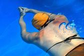 Swimming Lady — Zdjęcie stockowe