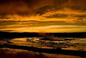 Sunset Over Great Fountain Geyser 1 — Stock Photo