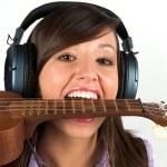 Pretty guitar player — Stock Photo #2637928