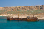 Shipwreck in Greece — Stock Photo