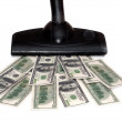 Sucking money vacuum cleaner — Stockfoto