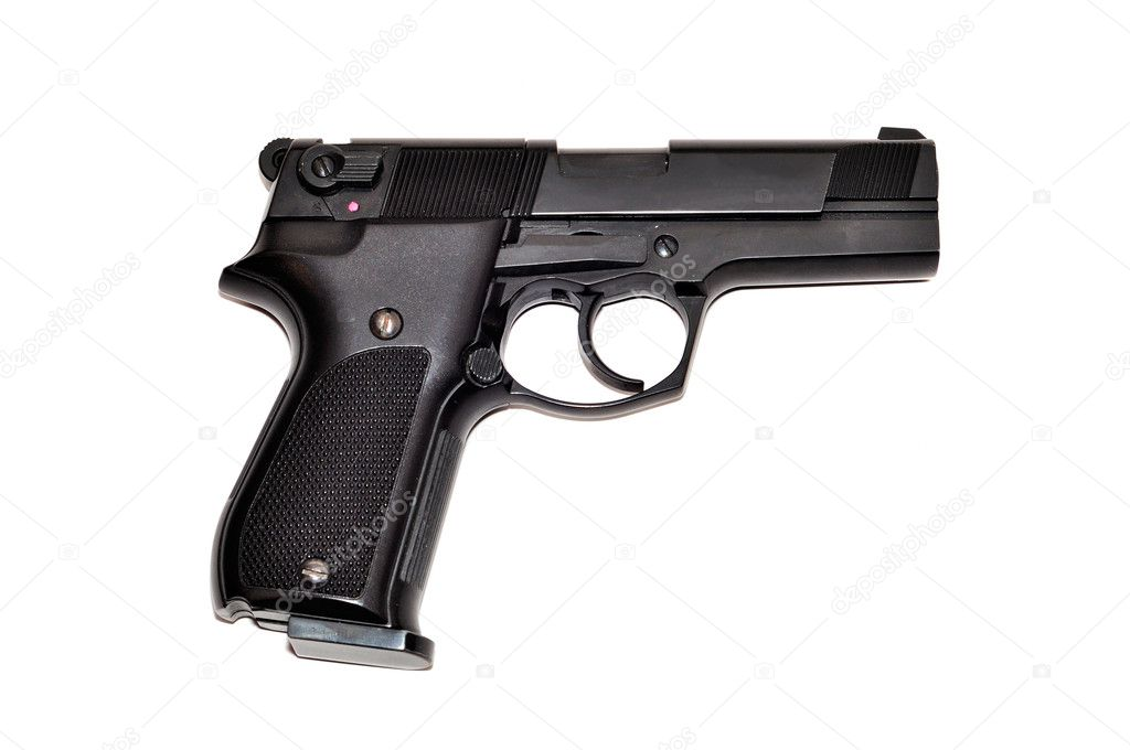 Black gun isolated on white background — Stock Photo #2596389