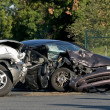 Two Vehicle accident - Stock Photo