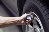 Tire Pressure — Stock Photo