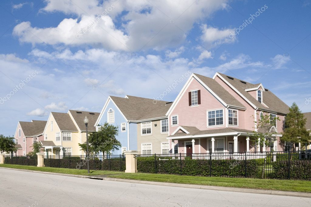 pastel homes stock photo jcpjr1111 2641543