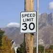 Stock Photo: Speed Limit 30