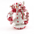 Christmas Decoration House - Snowman — Stock Photo
