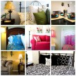 Collage - Home Interior - Foto de Stock  