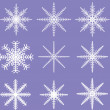 Постер, плакат: Snowflakes Ready for Brush Templates