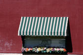 Italian Style Restaurant Window — Stock Photo
