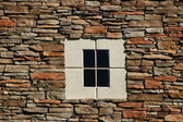 Rock Wall with Concrete Window — Stock Photo