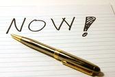 YES - Notepad & Pen — ストック写真