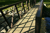 Close up on a Bridge in a Park — Stock Photo