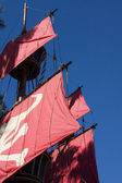 Close up on a Pirate Ship — Stock Photo