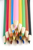 Coloring Pencils in Pyramid — Stock Photo