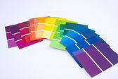 Próbki farby na białym tle — Zdjęcie stockowe