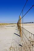 Fence Under Clear Skies — Stock Photo