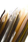 Carpetas en un rack — Foto de Stock