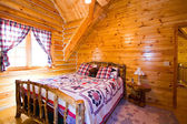 Close up on a Bedroom in a Cabin — Stock Photo