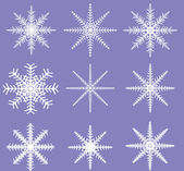Snowflakes - Ready for Brush Templates — Stock Photo
