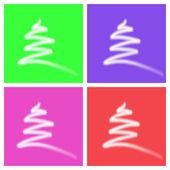 рождественская елка фоном для открытки — Стоковое фото