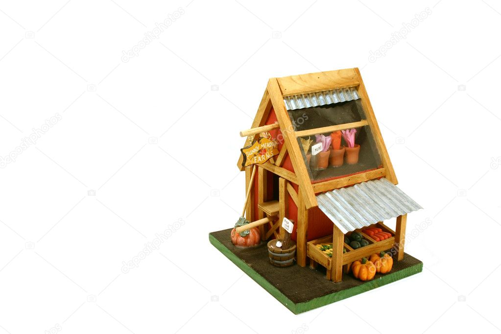Halloween Decoration - Miniature Farm House — Stock Photo #2600596