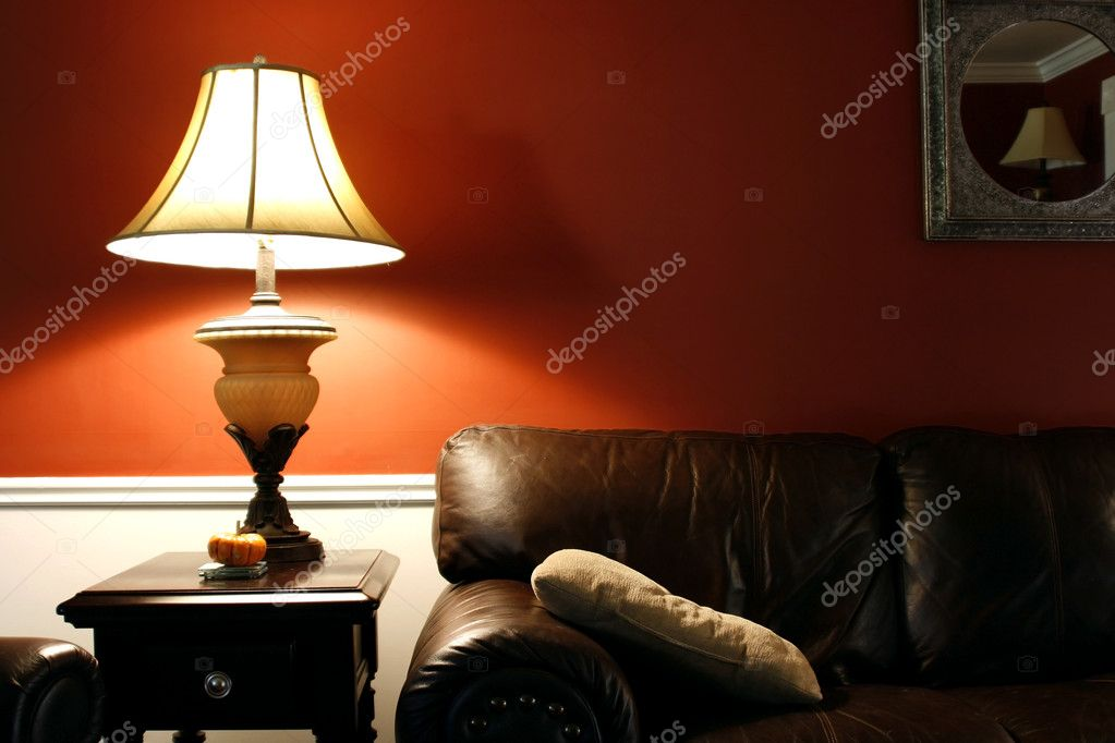 Close up on a Lamp and the Coush in a House — Stock Photo #2601701