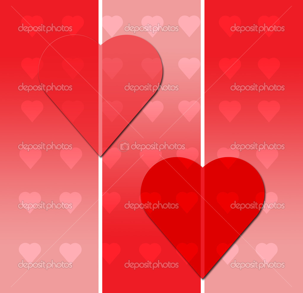 Valentines Day Postcard with Hearts — Stock Photo #2603002