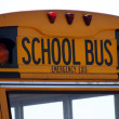 School Bus Sign — Stock Photo