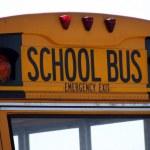 School Bus Sign — Stock Photo