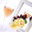 Isolated Grapes In a Glass - Stock Photo