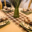 Stock Photo: Close up on a Decorated Dinner Table