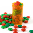 Medicine Bottle filled with Candy — Stock Photo #2663689