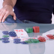Man with Royal Flush - Stock Photo