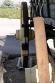 Oude antieke wagon wielen — Stockfoto
