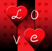 Alla hjärtans dag svart hjärta — Stockfoto