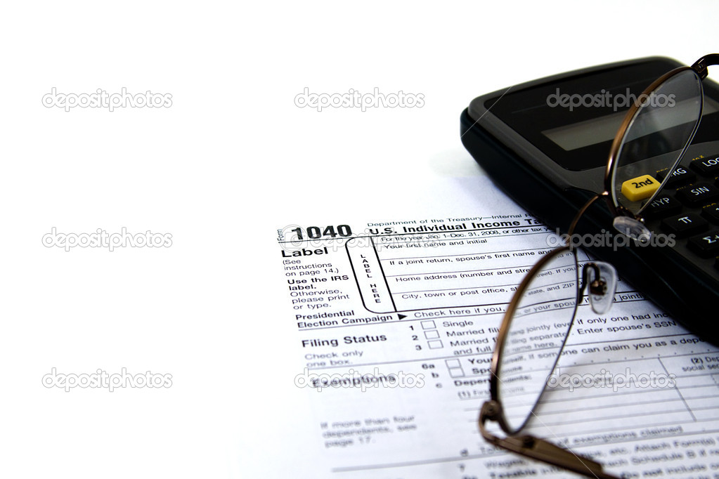 Preparing Taxes - Form 1040 for 2008 — Stock Photo #2663650