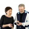 Couple checking the Text Message — Stock Photo