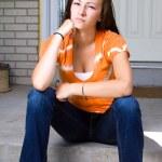 Teenage Girl Sitting Outside — Stock Photo #2692442