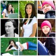 Beautiful Teenager Collage — Stock Photo